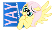 Yay Fluttershy Stamp by Toonfreak