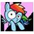 Rainbow Dash Avatar by Toonfreak