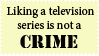 TV Is Not A Crime Stamp by Toonfreak