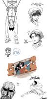 Levi doodles dump by CameoStoique
