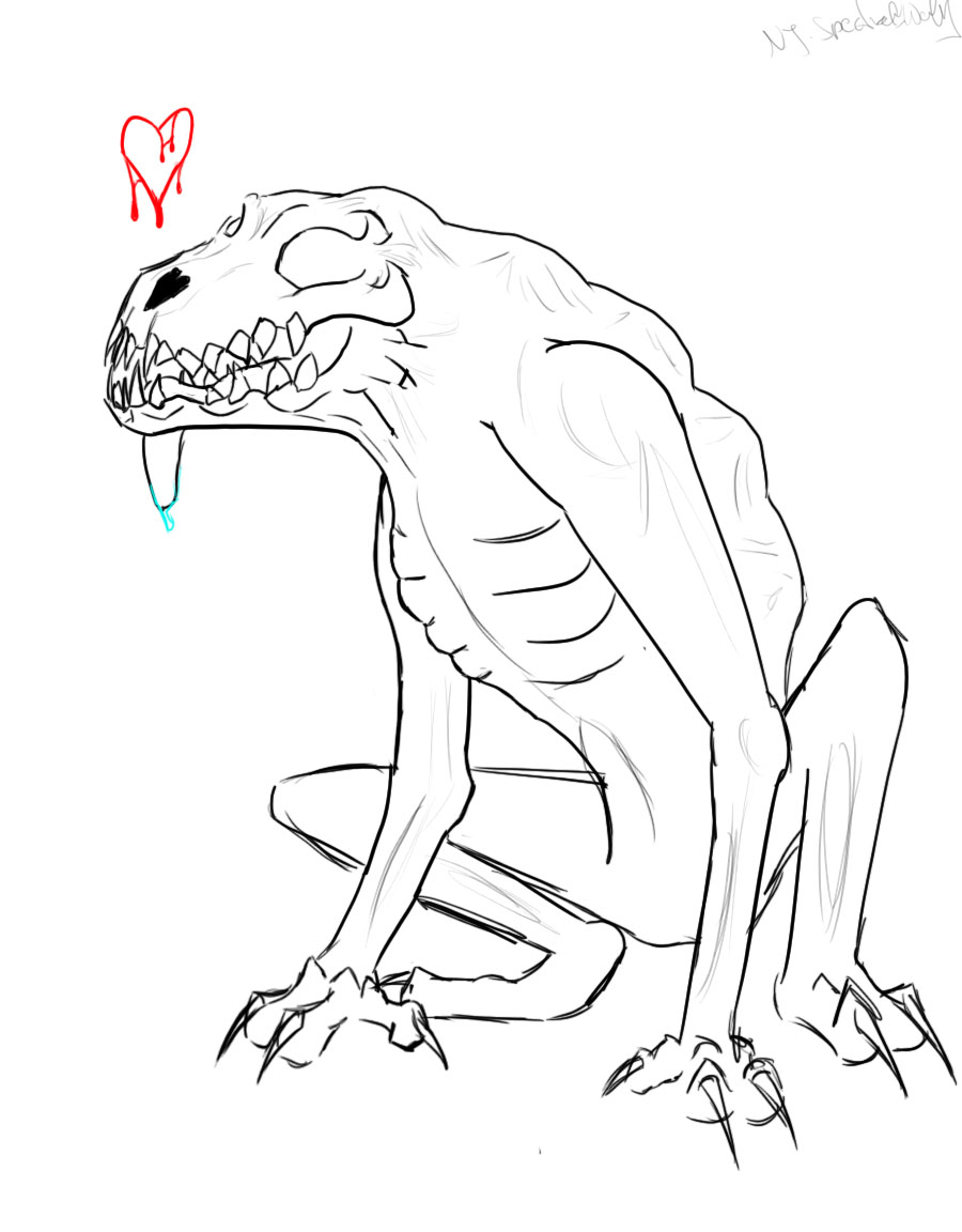 Demonic Dog sketch by TheSpectral-Wolf on DeviantArt