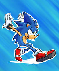 Sanic by TheSpectral-Wolf