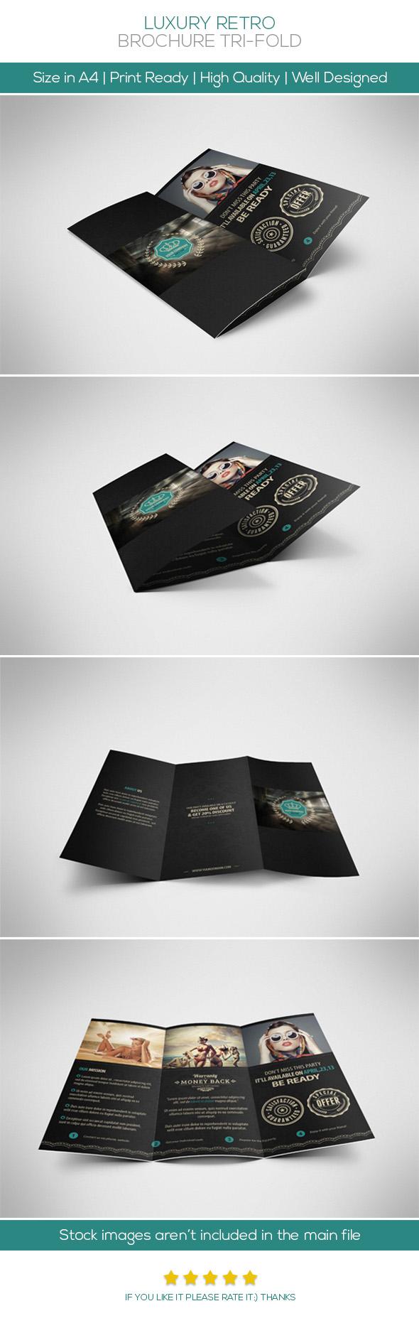 Retro Luxury Brochure Tri-fold