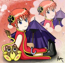 +Gintama+ Kagura-chan by wamyne