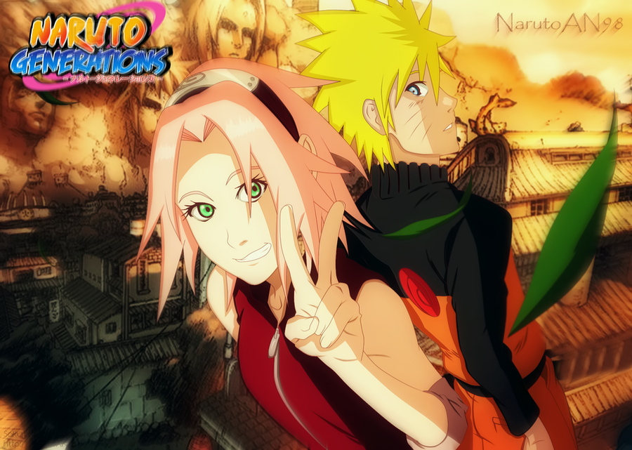 Naruto and Sakura Leaf Village by NuclearAgent