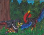 Dinosaur Park Quartet #4: Courting Dromaeosaurus