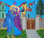 The Embrace of Saints Joachim and Anna