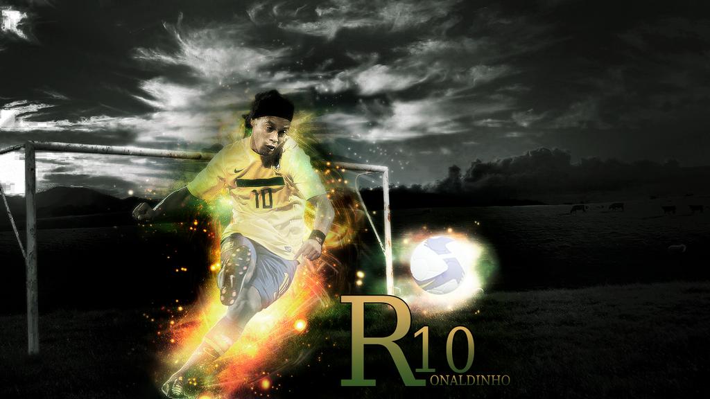 Wallpaper Ronaldinho By 3d Alberto On Deviantart