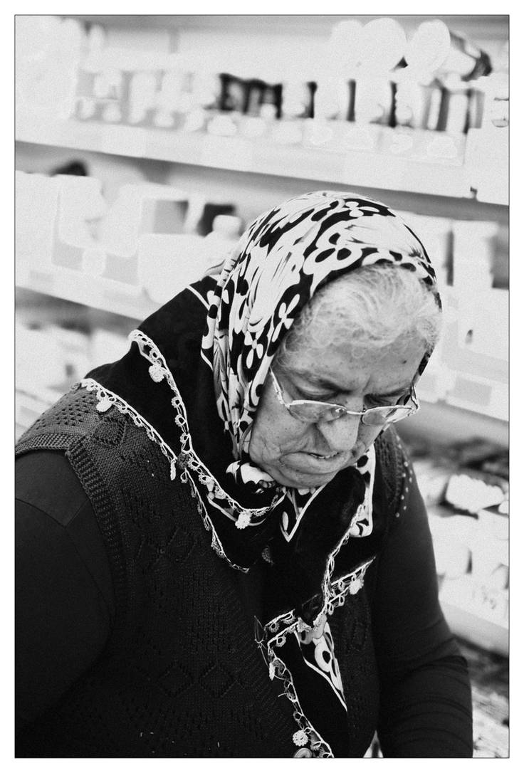 Woman with headscarf. by xs-deviant