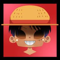 Chibi Luffy w/ Straw Hat