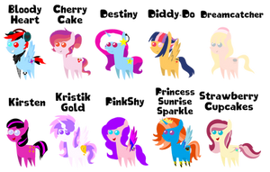 Somebody Else's OC Ponies Pointified!! (Batch #3) by HisBestFantasyEverXD