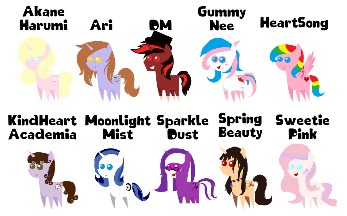 Somebody Else's OC Ponies Pointified!! (Batch #4) by