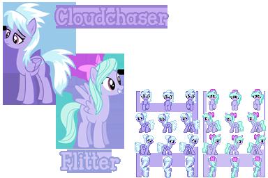 Cloudchaser and Flitter sprites (RPG Maker VX Ace)