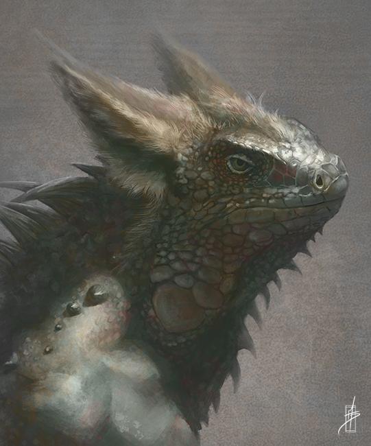 Iguana Creature Concept by Zhrayde
