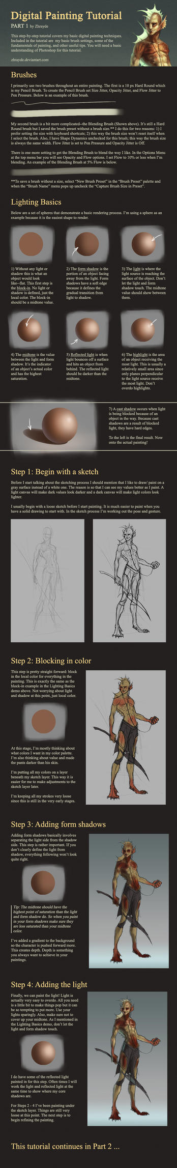 Digital Painting Tutorial - Part 1 by Zhrayde