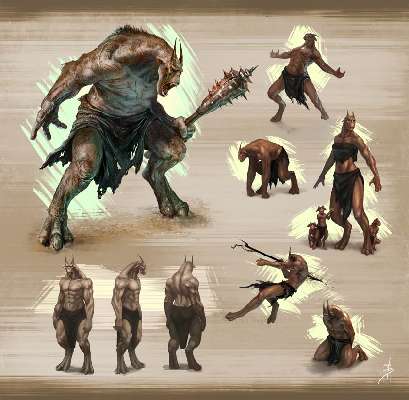 Minotaur-ish Warrior Concept by Zhrayde