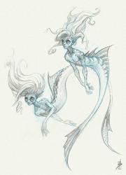 Mermaids Sketch