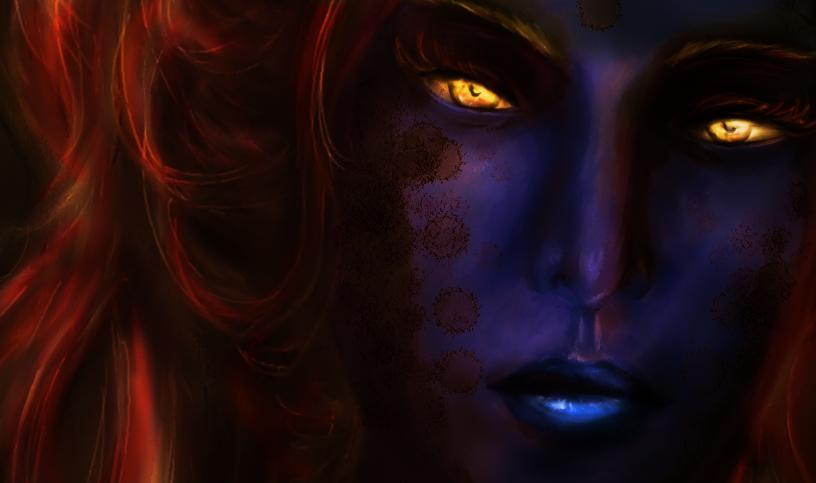 Dark Mermaid Art dark mermaid by shy-nu...