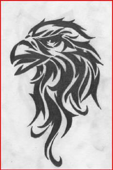 Tribal Eagle Drawing