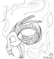 Flamin' Skull by Midniteoil-Burning