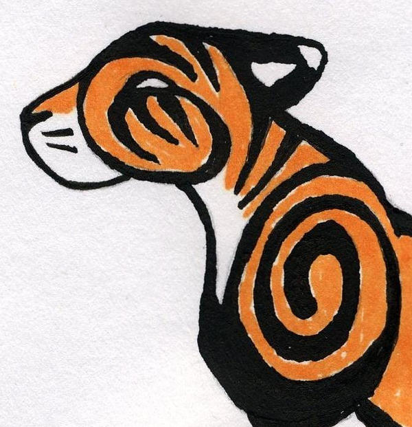 Tribal Tiger By Ruttan On Deviantart: Tribal Tiger Head By Midniteoil On DeviantART