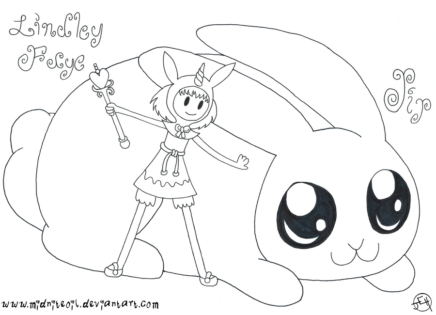 ATwFaJ - Lindley Faye and Pip the Bunny by midniteoil