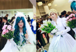 Sailor Moon: Haruka and Michiru festival photo by DungeonQueen