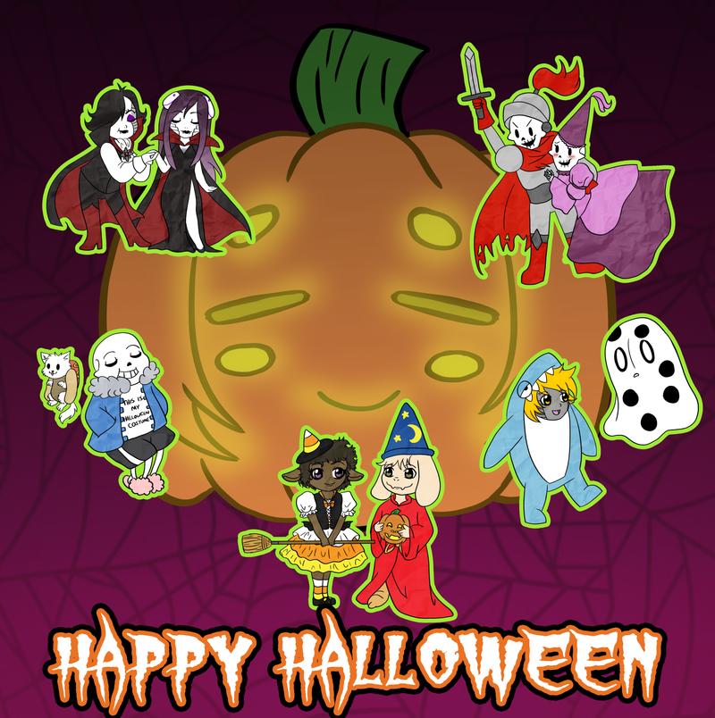 Happy Undertale Halloween:. by MevrouwRoze on DeviantArt