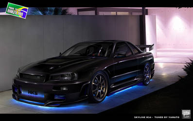 Skyline R34 Blacklight Series by kairusevon