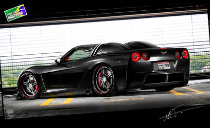 Corvette Black Knight by kairusevon
