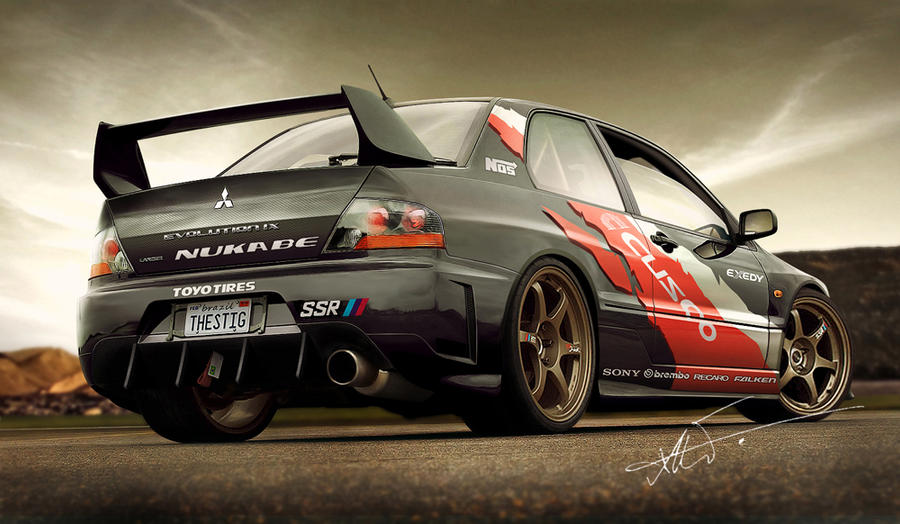 Lancer EVO IX by kairusevon on DeviantArt