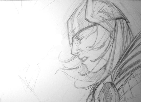 M J Sketch Images thor sketch by Matthew...