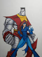 colossus and shadowcat by MatthewFletcher720