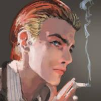 David Bowie Portrait by CannotBeUnseen