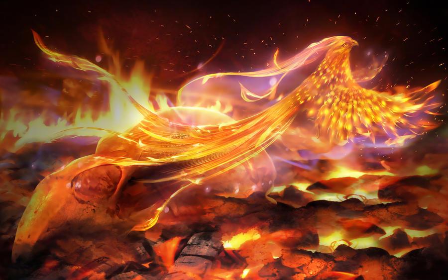 Painting Art Phoenix Fire Fantasy Digital Drawing: Phoenix By MariLucia On DeviantArt