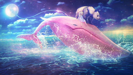 Pink Whale by MariLucia