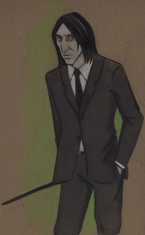Snape inna Suit by acatnamedeaster