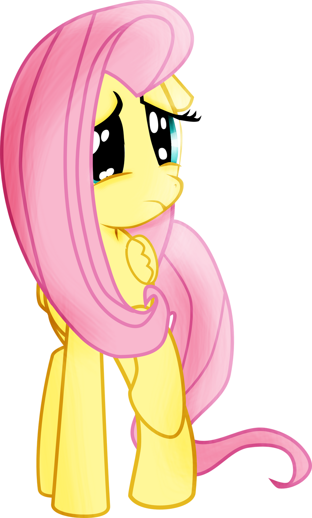 Mlp Fluttershy Scared Vector by pintara on DeviantArt