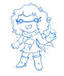 Superhero Rain Chibi (Commission)