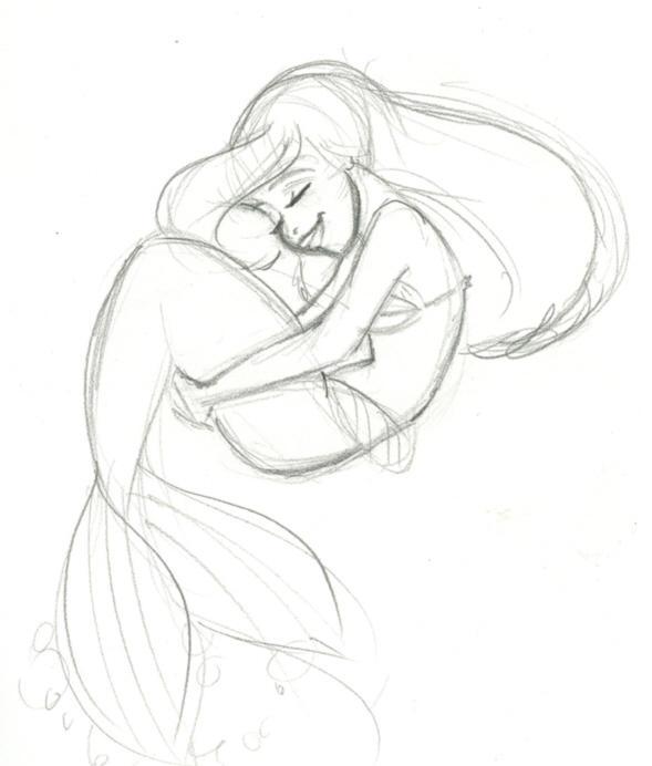Ariel Sketch Glen Keane Ariel sketch by trounced by