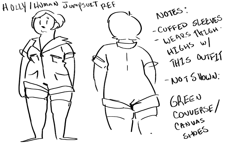 how to draw a jumpsuit