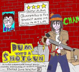 Bum with a shotgun
