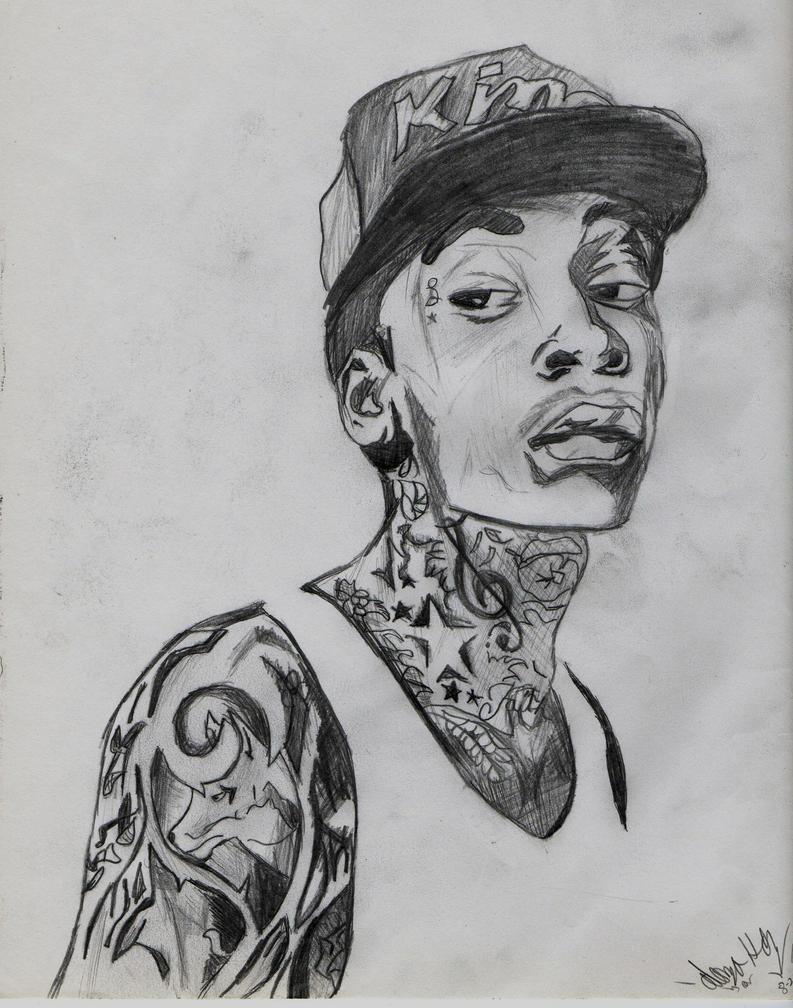 Wiz Khalifa drawing by AlonzoHdz on DeviantArt