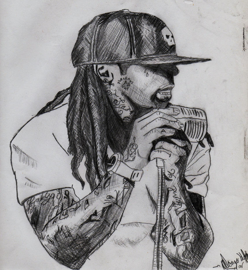 Pencil Drawings Of Lil Wayne Lil Wayne Drawing (2) ...