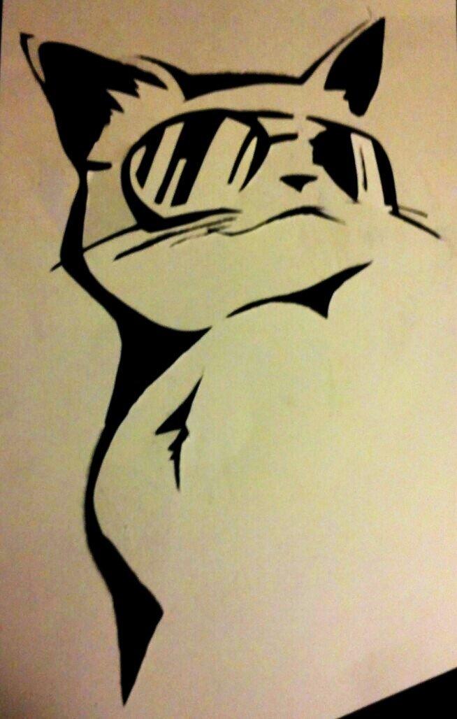 Cool Cat Stencil by AlonzoHdz on DeviantArt