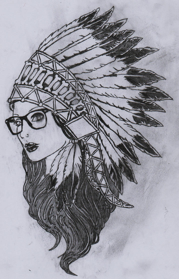 A drawing of a girl