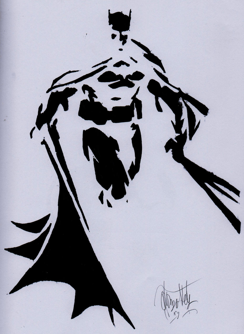 batman stencil by alonzohdz on deviantart