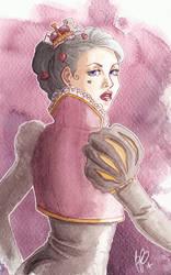 Heart Queen, Watcolour Practice