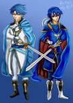 Desenho - Sigurd And Seliph - Fire Emblem 4