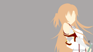 Asuna (SAO) Minimalistic Wallpaper